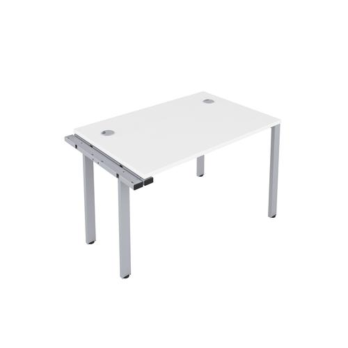 CB 1 Person Extension Bench 1200 X 800 Cable Port White-Silver