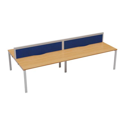 CB 4 Person Bench 1400 X 800 Cable Port Beech-White