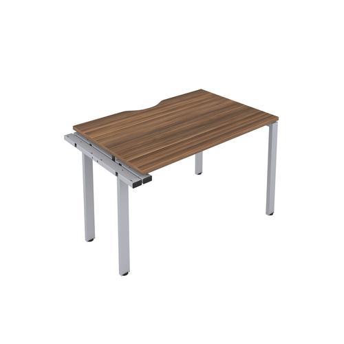 CB 1 Person Extension Bench 1400 X 800 Cut Out Dark Walnut-Silver