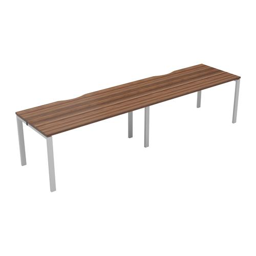 CB 2 Person Single Bench 1400 X 800 Cut Out Dark Walnut-White