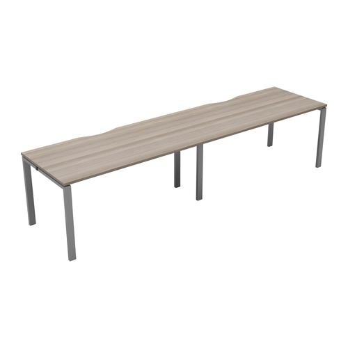 CB 2 Person Single Bench 1400 X 800 Cut Out Grey Oak-Silver