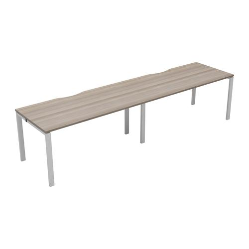 CB 2 Person Single Bench 1400 X 800 Cut Out Grey Oak-White