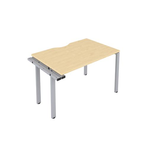 CB 1 Person Extension Bench 1400 X 800 Cut Out Maple-Silver