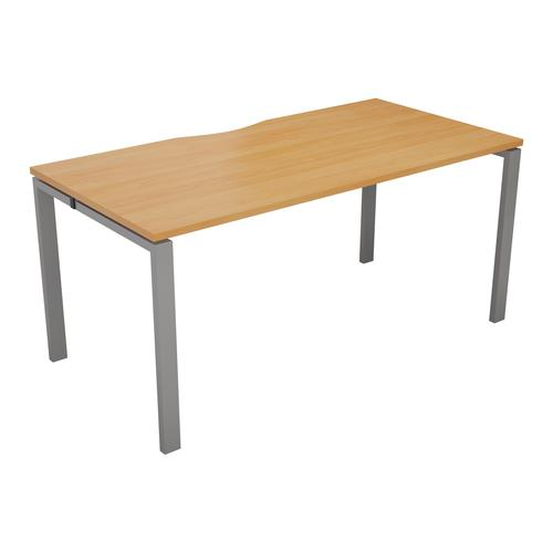 CB 1 Person Bench 1400 X 800 Cut Out Beech-Silver