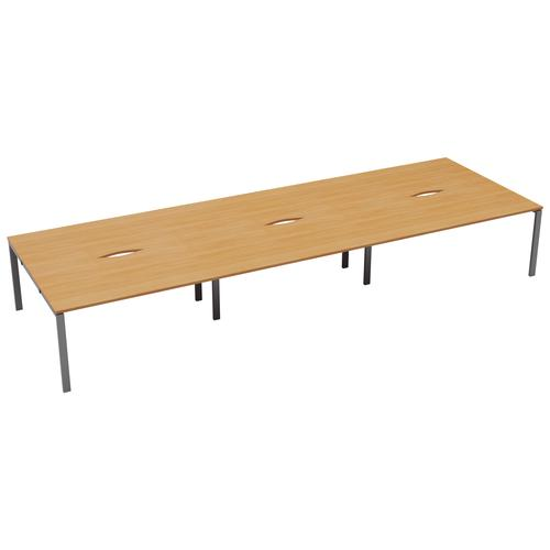 CB 6 Person Bench 1400 X 800 Cut Out Beech-Silver
