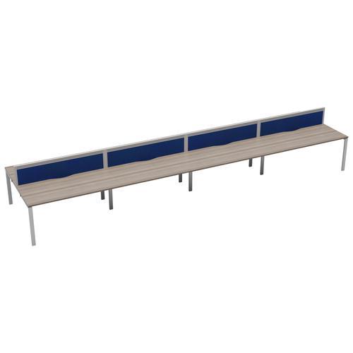 CB 8 Person Bench 1600 X 800 Cable Port Grey Oak-White