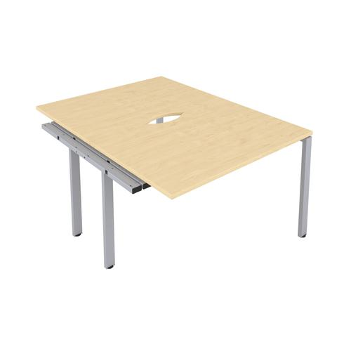 CB 2 Person Extension Bench 1600 X 800 Cut Out Maple-Silver