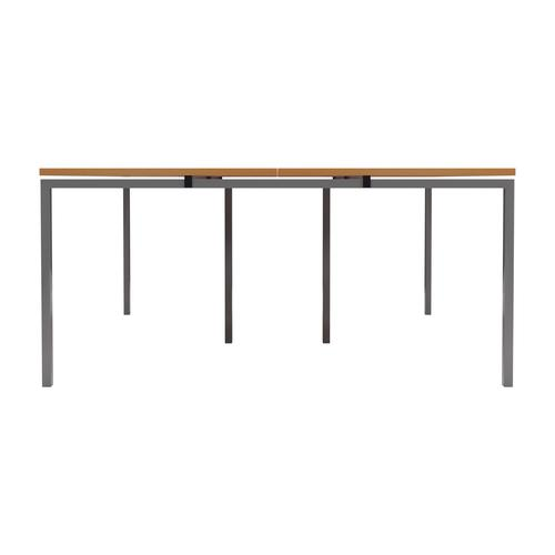 Awe Inspiring Cb 4 Person Bench 1600 X 800 Beech Top And Silver Legs Machost Co Dining Chair Design Ideas Machostcouk