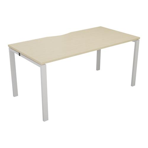 CB 1 Person Bench 1600 X 800 Cut Out Maple-White