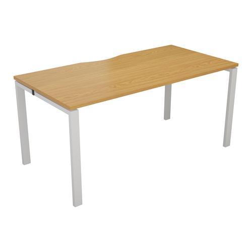 CB 1 Person Bench 1600 X 800 Cut Out Nova Oak-White