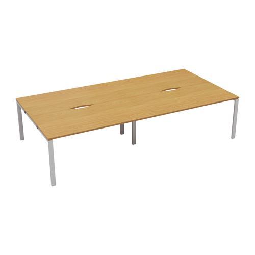 CB 4 Person Bench 1600 X 800 Cut Out Nova Oak-White