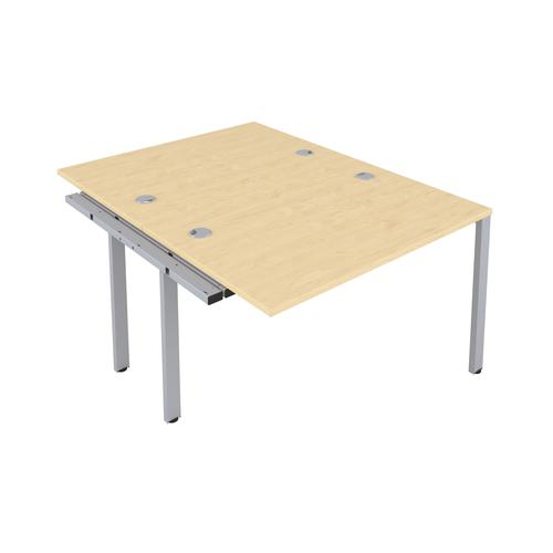 CB 2 Person Extension Bench 1600 X 800 Cable Port Maple-Silver