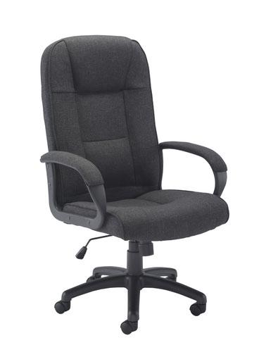 Keno Fabric Chair - Charcoal
