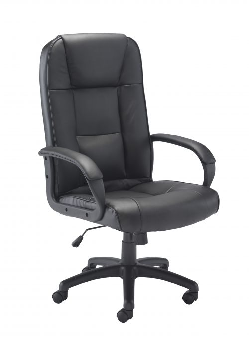 Keno Leather Chair - Black