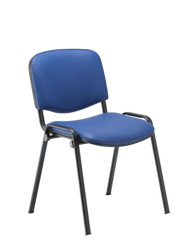 Club Chair PU Blue Vinyl