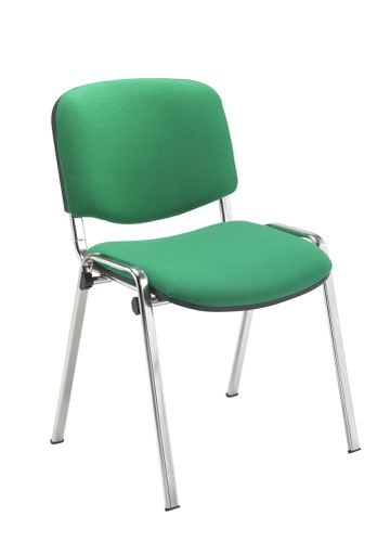 Club With Chrome Frame Green Fabric