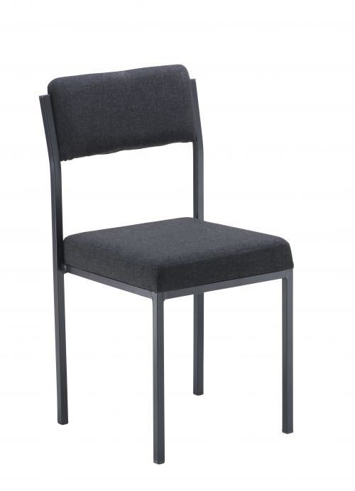 Cube Multipurpose Stacking Chairs Charcoal