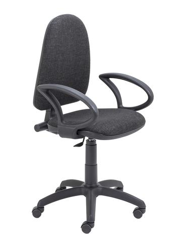Zoom Highback Operator Chair with Fixed Arms Charcoal