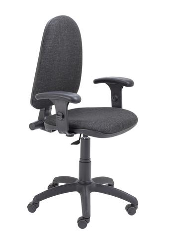 Zoom Highback Operator Chair with Adjustable Arms Charcoal