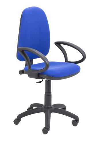 Zoom Highback Operator Chair with Fixed Arms Royal Blue