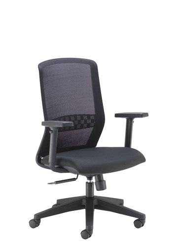Spark Mesh Chair Upholstered In Black Fabric Black Mesh