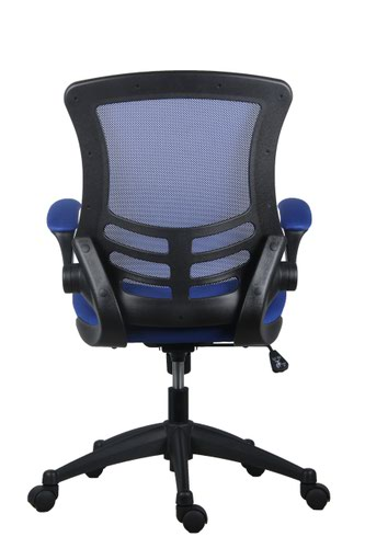 Marlos Mesh Back Office Chair With Folding Arms - Blue