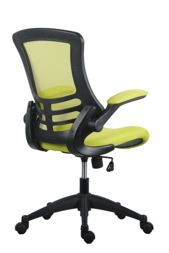 Marlos Mesh Back Office Chair With Folding Arms - Green