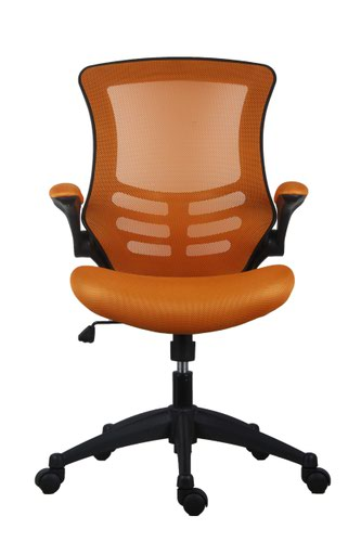 Marlos Mesh Back Office Chair With Folding Arms - Orange