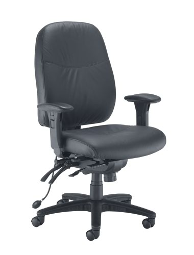 Vista Leather Look Chair Black