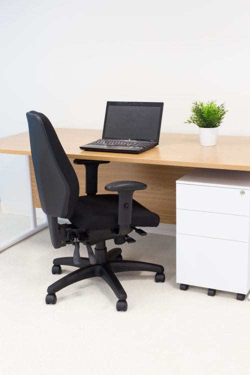 Call Centre Chair Black Without Seat Slide