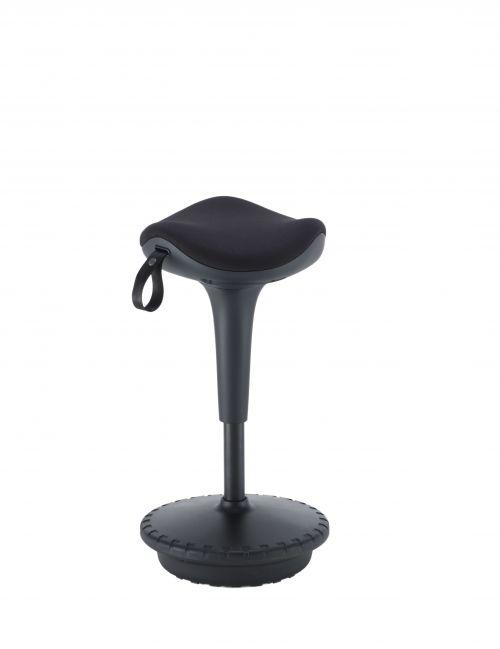 Jemini Height Adjust Sit Stand Sway Wobble Stool Black/Black KF79440