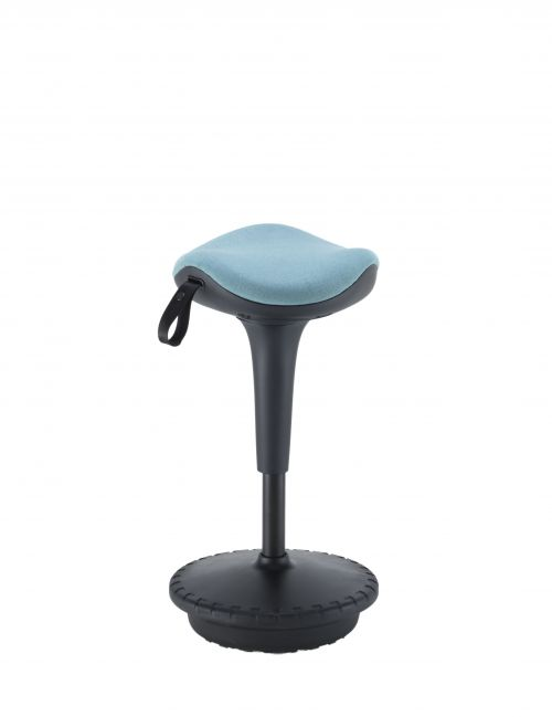 Jemini Height Adjust Sit Stand Sway Wobble Stool Black/Blue KF79443