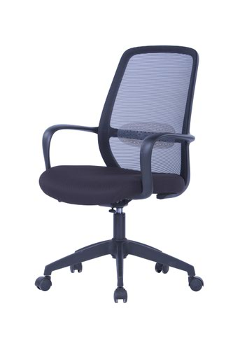 Soho Task Chair - Black Frame with Black Mesh
