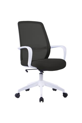 Soho Task Chair - White Frame with Black Mesh