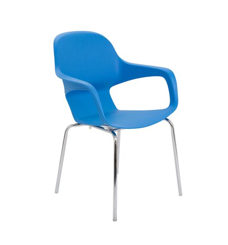 Ariel2 Polyproplene Chair w/ Chrome 4 Leg Frame - Blue (CH2507/BLUE)