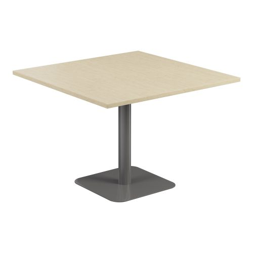 Contract Table 1000 X 1000 Semi Silver Frame Maple Top