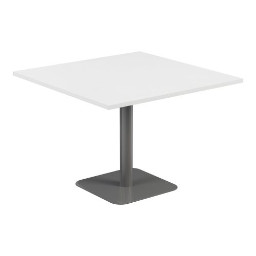 Contract Table 1000 X 1000 Semi Silver Frame White Top