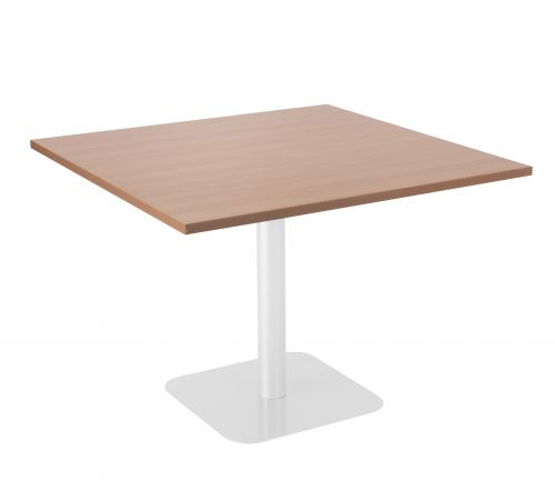 Contract Table 1000 X 1000 Semi White Frame Beech - Version 2 Top