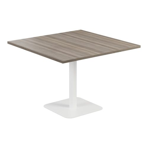 Contract Table 1000 X 1000 Semi White Frame Grey Oak Top