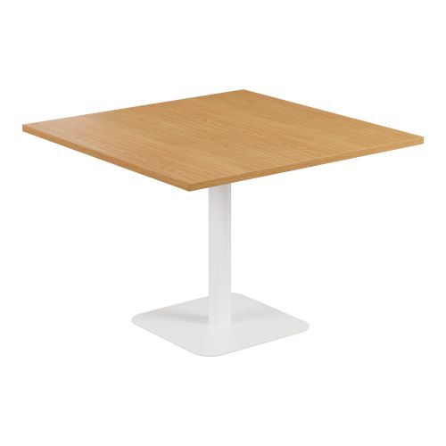 Contract Table 1000 X 1000 Semi White Frame Nova Oak Top