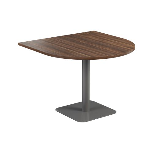Contract Table 1000 X 1000 Semi Silver Frame Dark Walnut Top