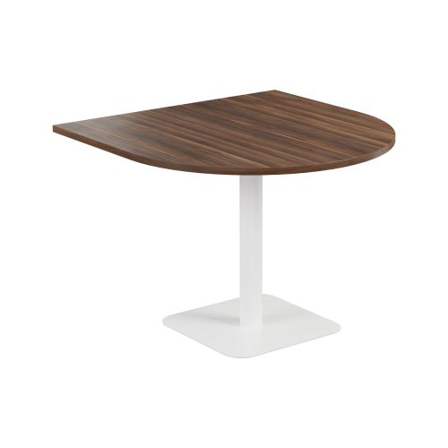 Contract Table 1000 X 1000 Semi White Frame Dark Walnut Top