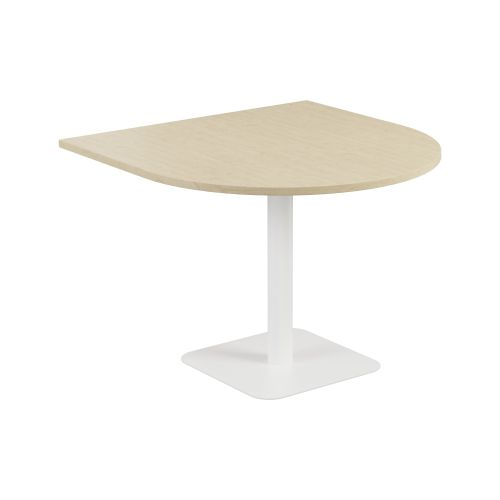 Contract Table 1000 X 1000 Semi White Frame Maple Top