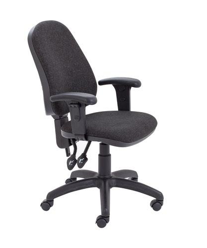 Calypso II High Back Chair with Adjustable Arms - Charcoal