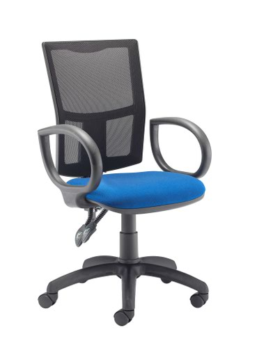 Calypso II Mesh Chair with Fixed Arms - Royal Blue