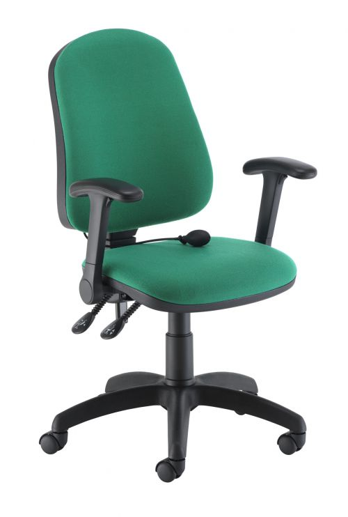 Calypso Ergo 2 Lever With Lumbar Pump + Folding Arms Green