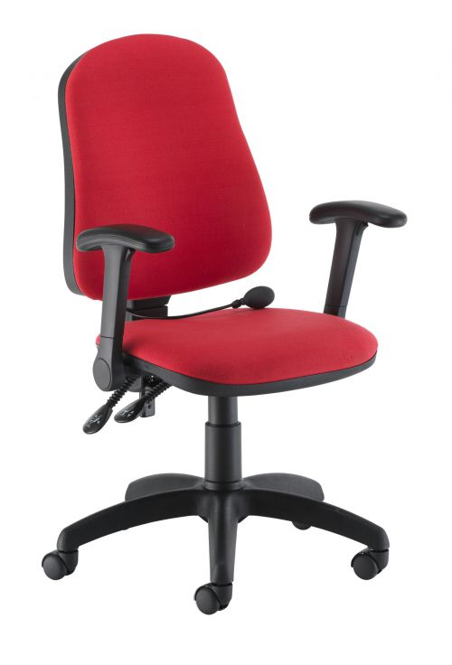 Calypso Ergo 2 Lever With Lumbar Pump + Folding Arms Red