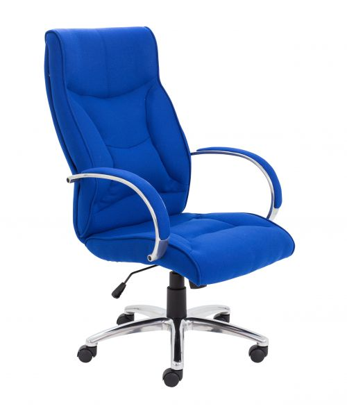 Managers Fabric Chair Blue Fabric CH3206RB