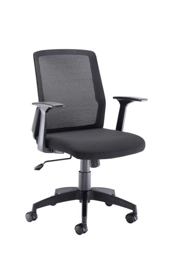 Denali Mid Back Mesh Chair With Headrest Black
