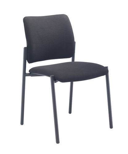 Florence Side Chair 4 Leg Upholstered Black Frame